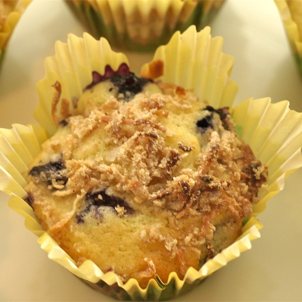 Mango Blueberry Muffins With Coconut Streusel Dee Hurter