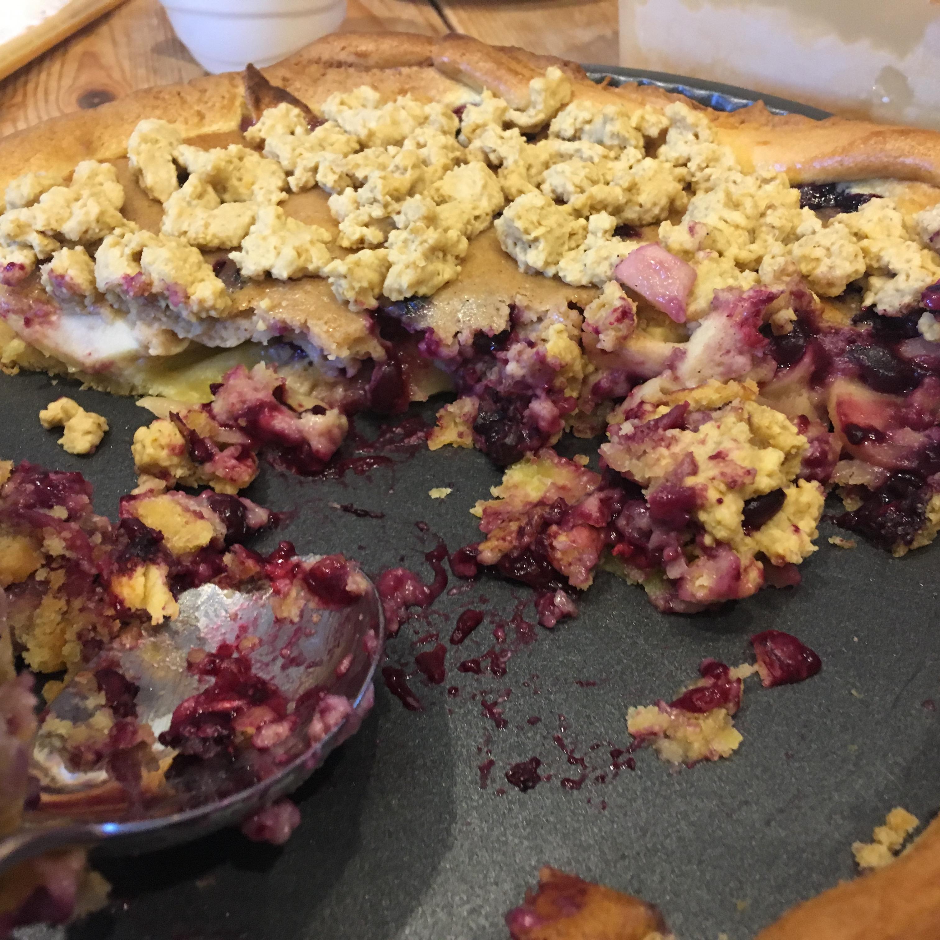 Creamy Apple Blueberry Pie