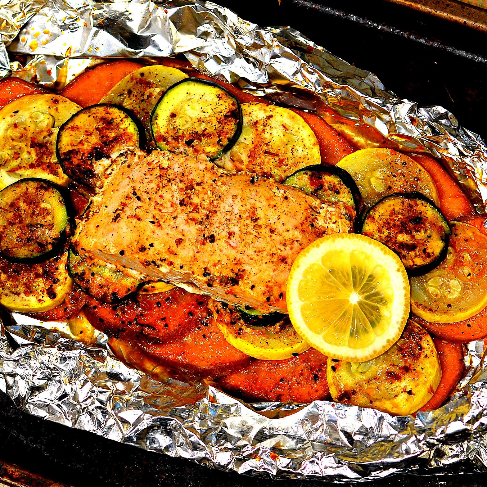 Salmon Foil-Pack Dinner
