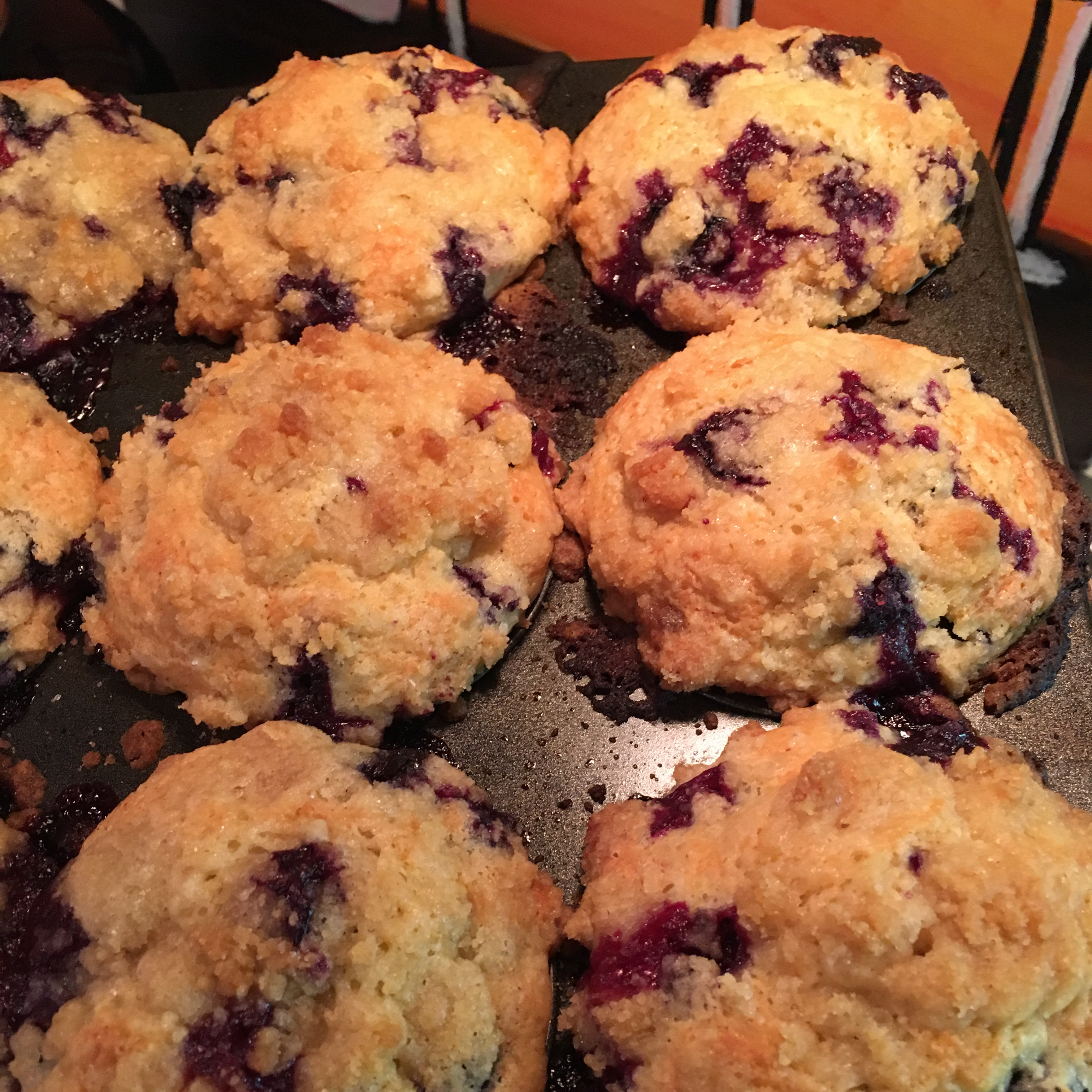 Healthier To Die For Blueberry Muffins cookin kitty