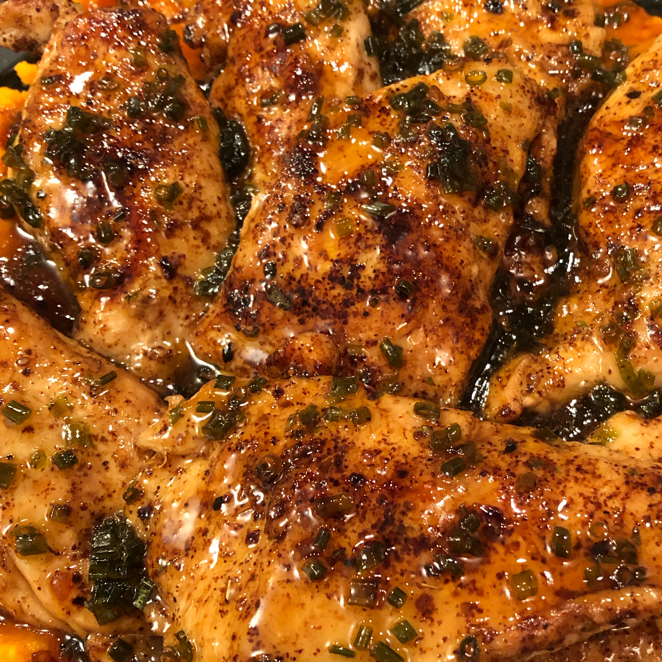 Maple Glazed Chicken with Sweet Potatoes