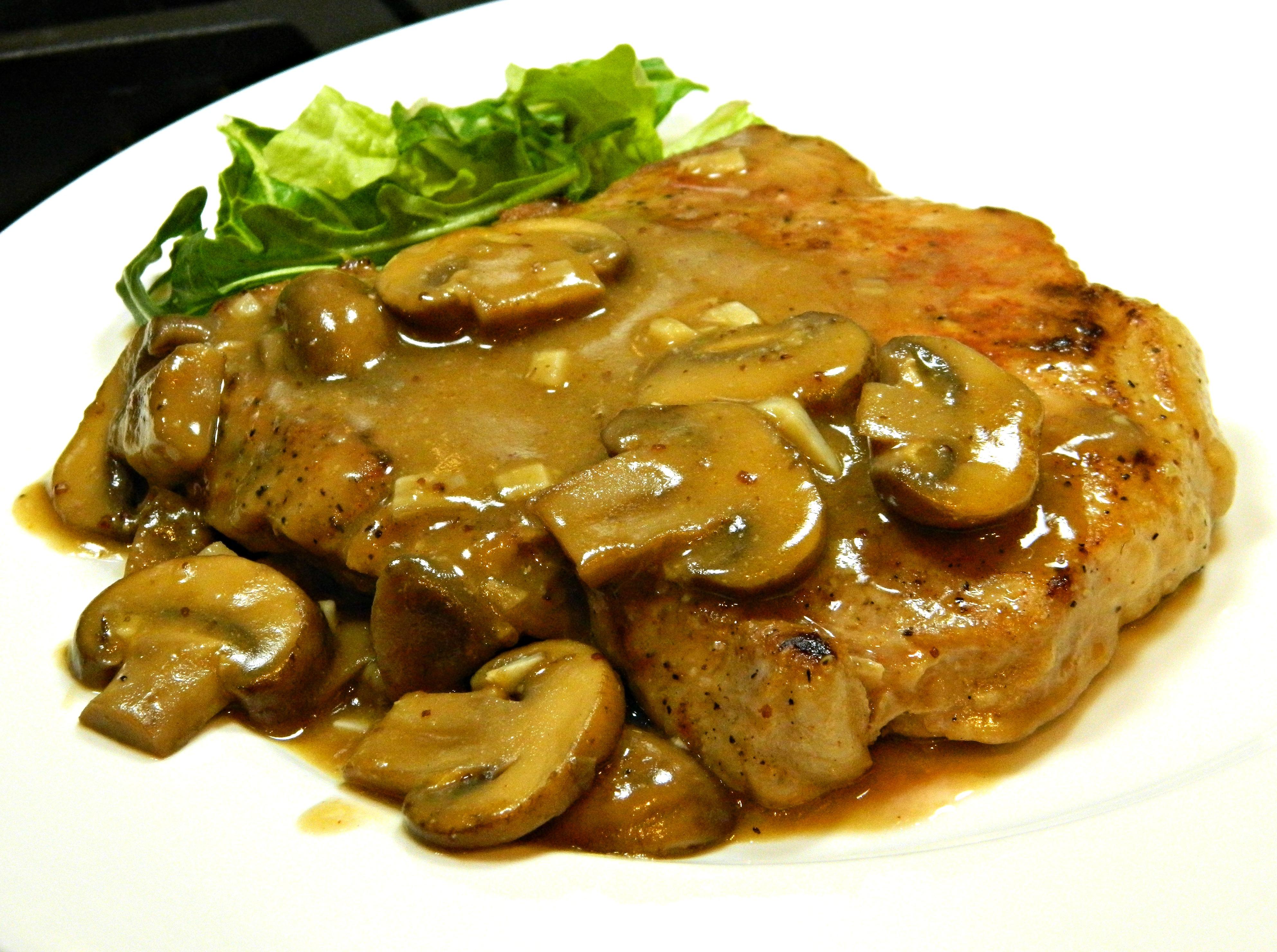 Pork Chops in Garlic Mushroom Sauce April Broxton