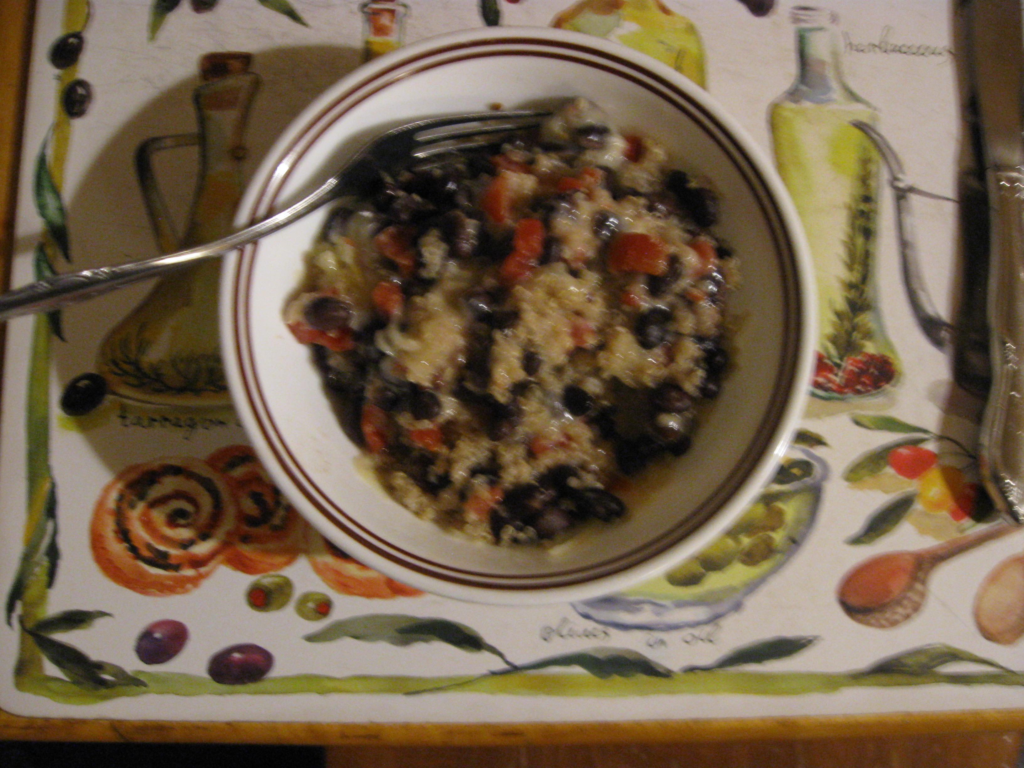 Speedy Mexican Black Beans and Quinoa
