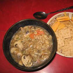 Mushroom Barley Soup unexpectedtriumphs