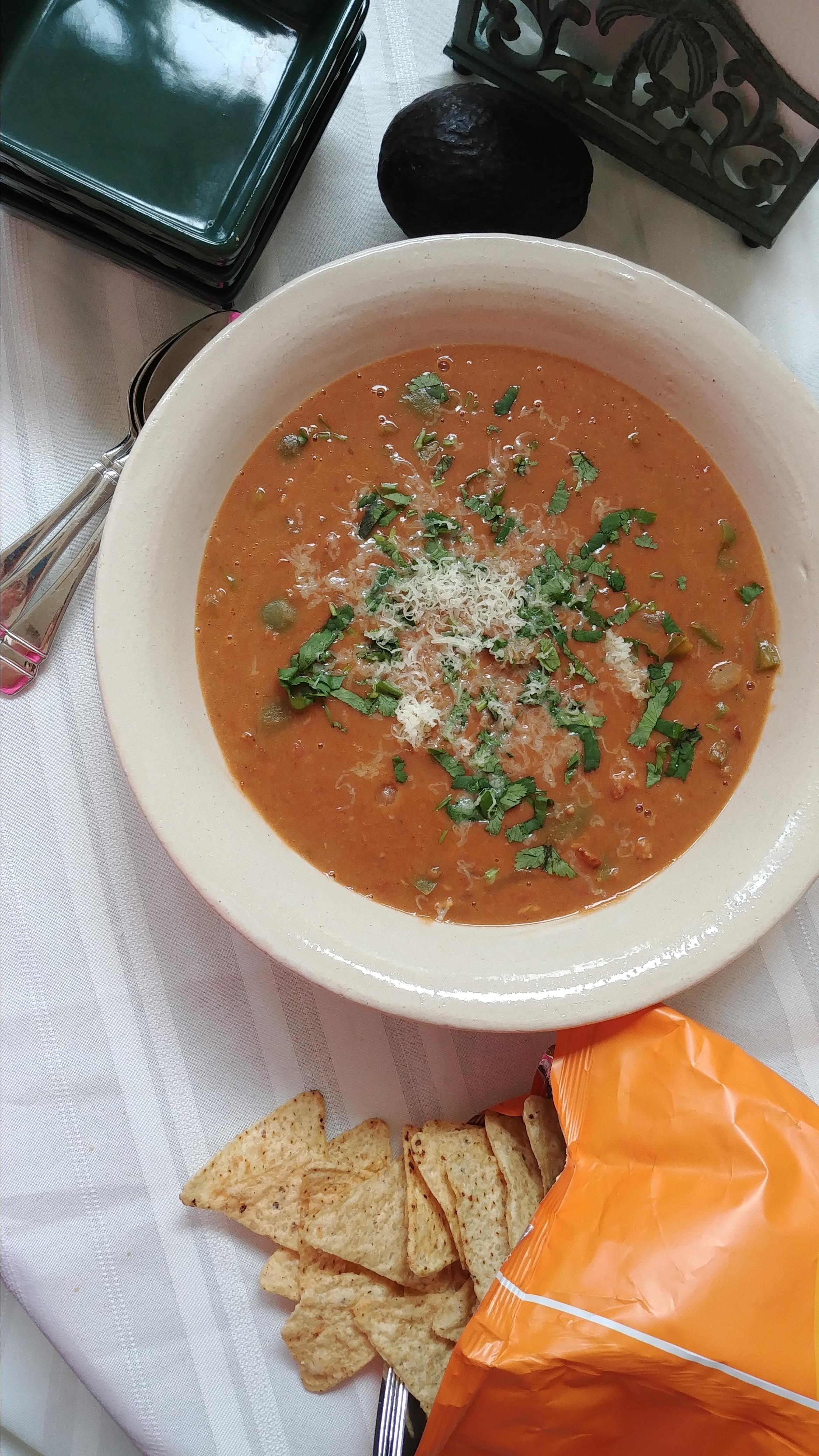 Fiesta Refried Bean Soup Chef Mo