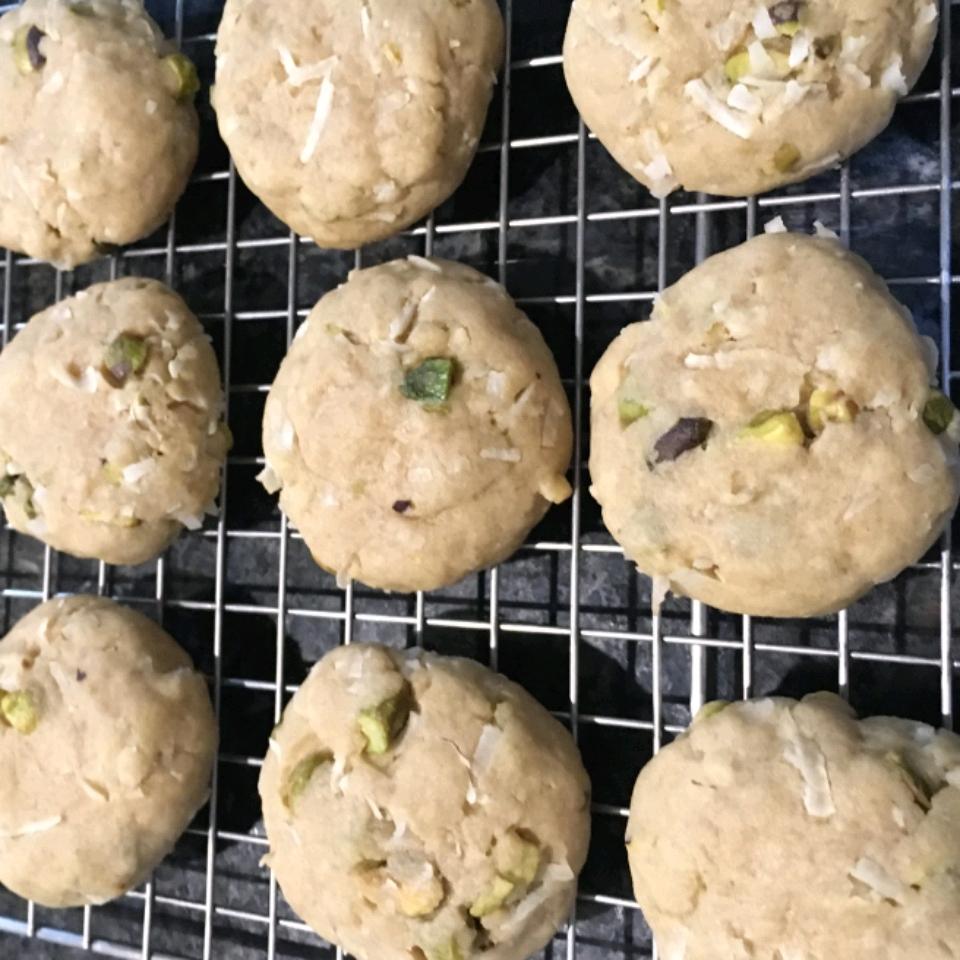 Coconut Pistachio Cookies Jen Sze