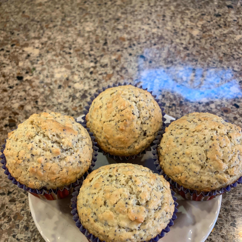 Double Oat Raisin Poppyseed Muffins