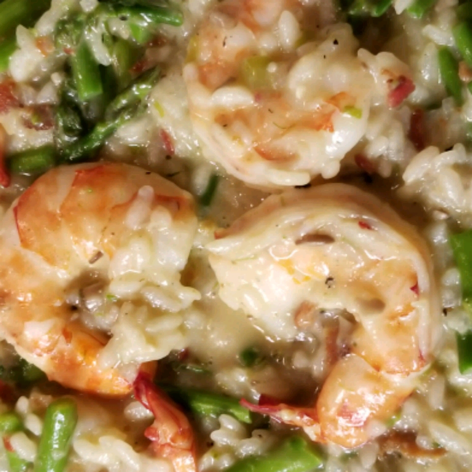 Garlic Shrimp and Asparagus Risotto