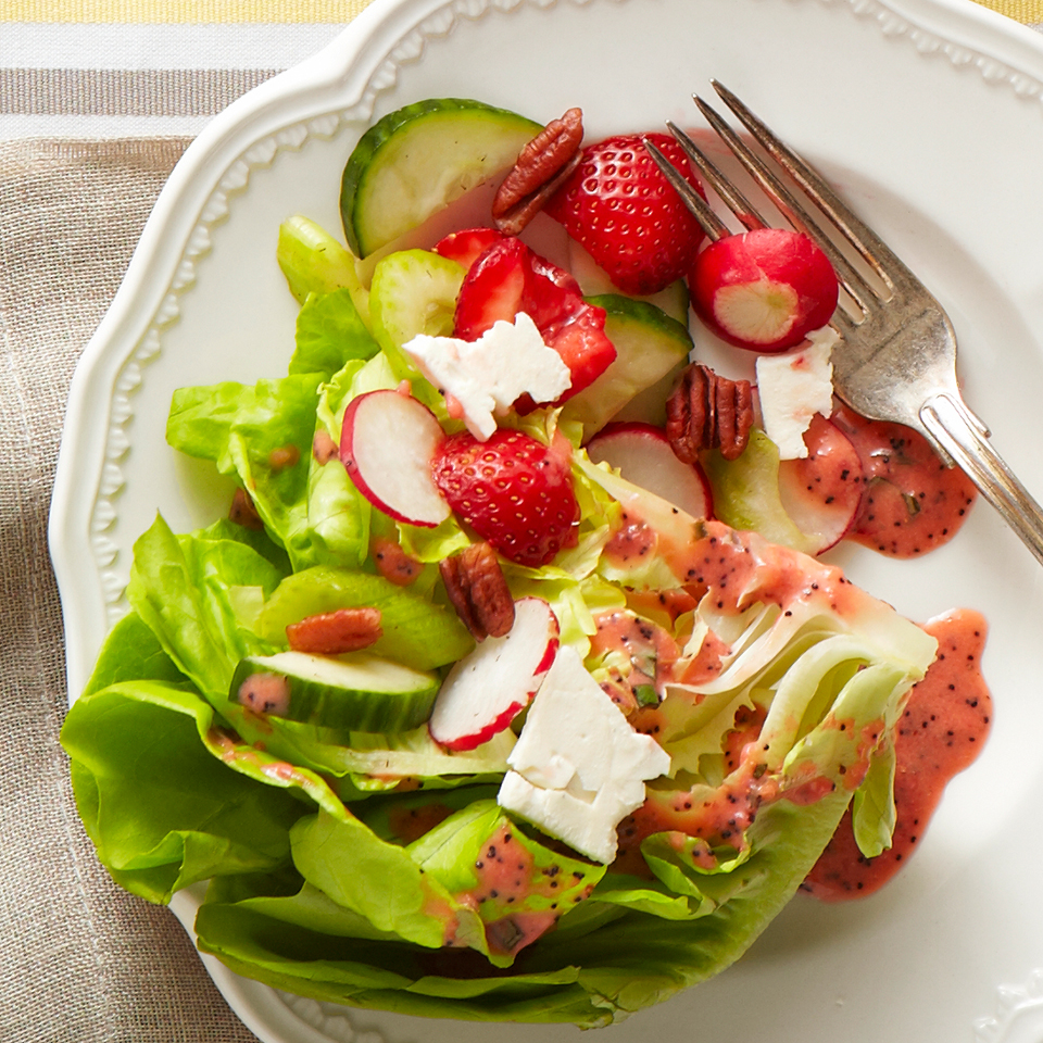 Spring Wedge Salad with Strawberry-Basil Vinaigrette Diabetic Living Magazine