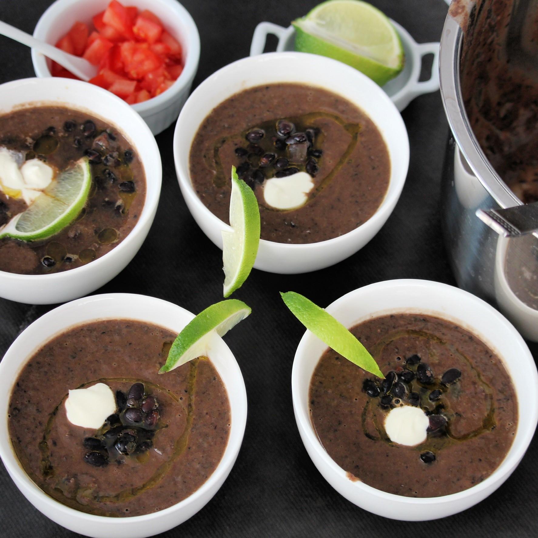 Instant Pot® Spicy Black Bean Soup (Vegan)