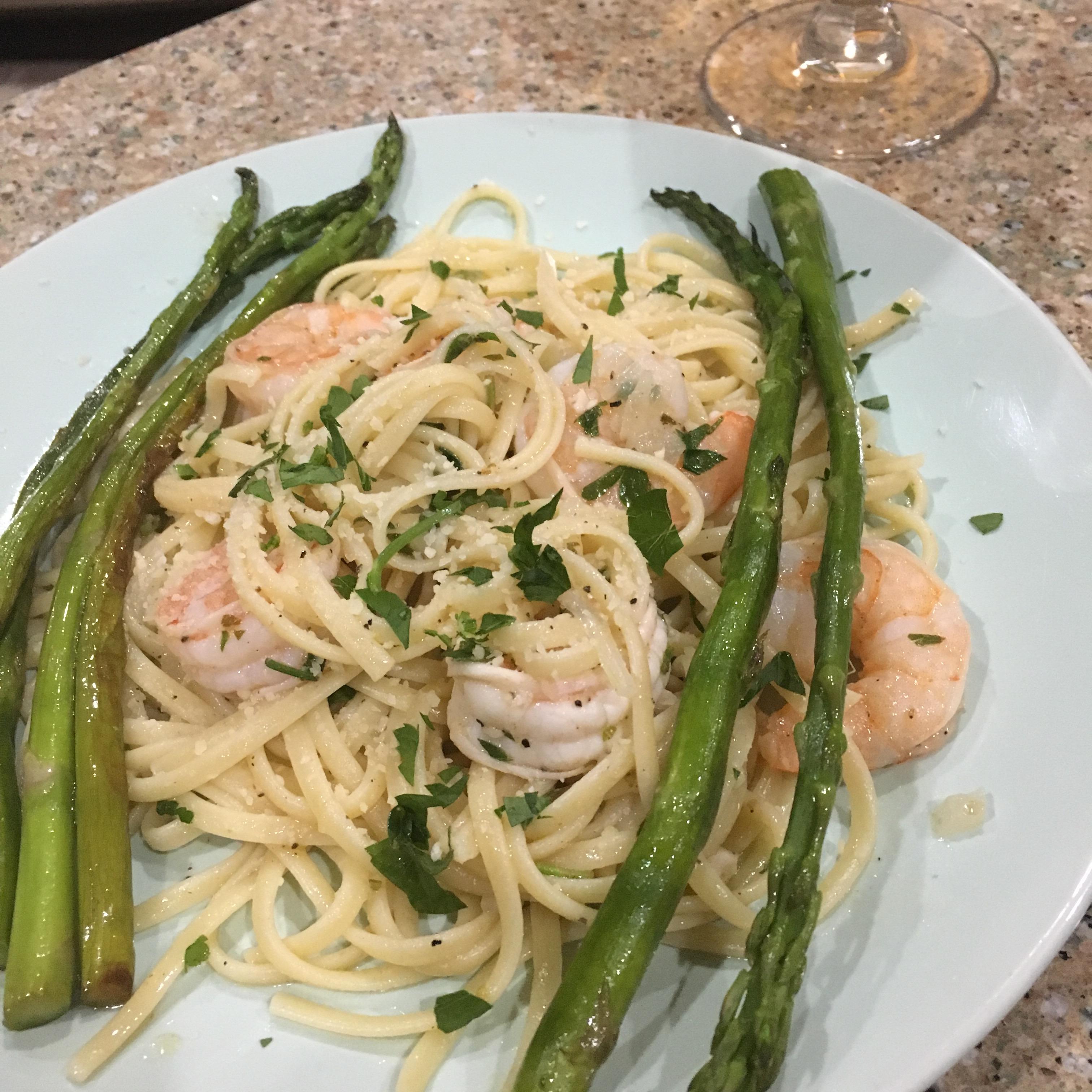 Shrimp Scampi with Pasta Tom