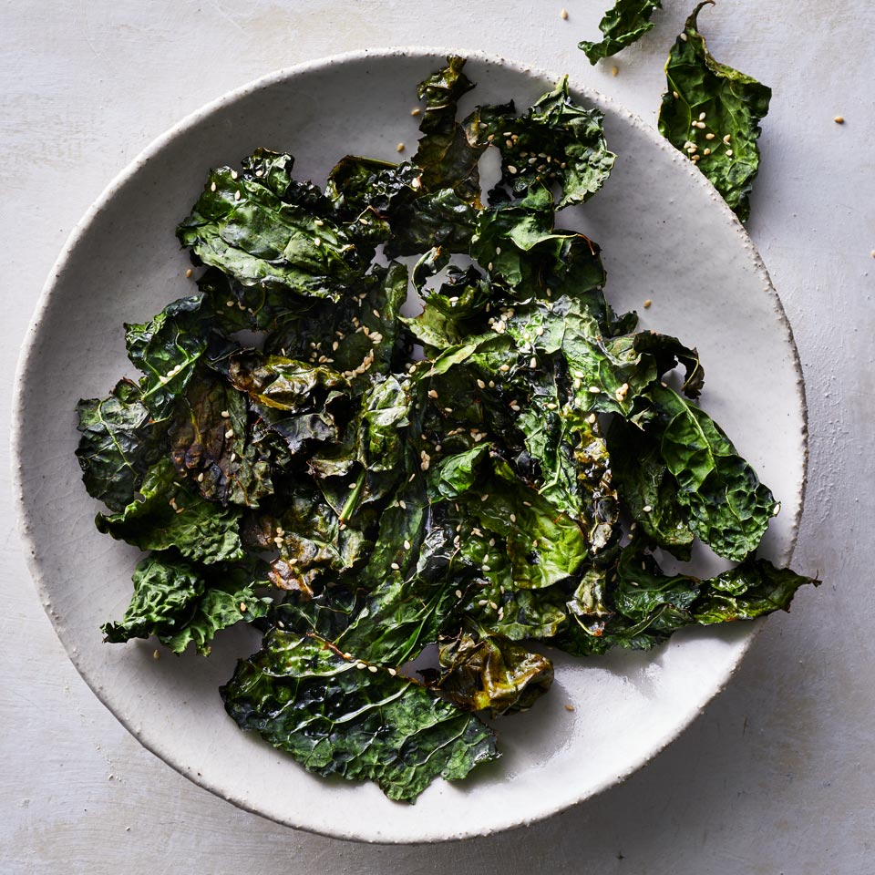 Homemade kale chips are incredibly easy to make. Thanks to the air fryer, fresh kale leaves turn extra crispy in under 15 minutes with much less fat than some store-bought options. Warning: These will go fast! Source: EatingWell.com, January 2019