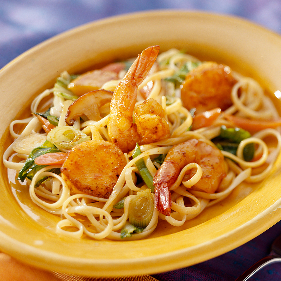 Curried Seafood with Linguine Diabetic Living Magazine