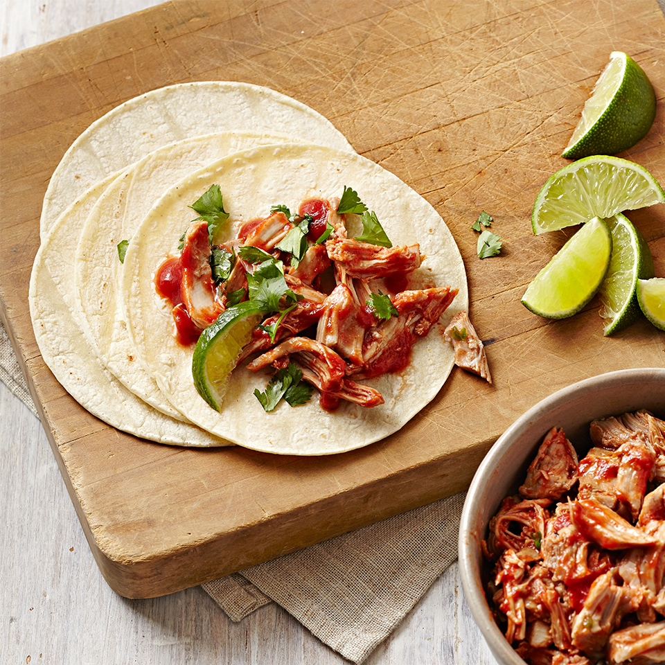 This taco recipe is a great choice for midweek dinners, even if it's not Taco Tuesday! Instead of beef, we use moist, boneless chicken thighs and to make things easier for you, the taco filling is cooked in a slow cooker, so you can prepare it in the morning and come home to a delicious meal. Source: Diabetic Living Magazine