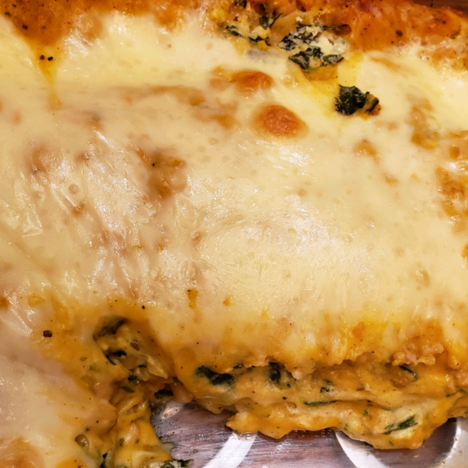 Roasted Butternut Squash and Spinach Lasagna Brandy
