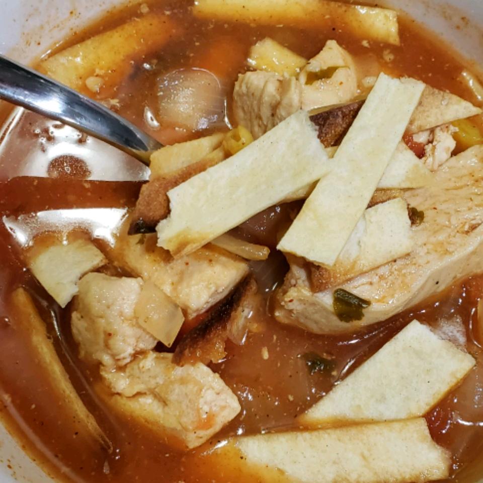 Healthier Slow-Cooker Chicken Tortilla Soup Tammy Keller