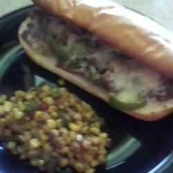 Philly Cheesesteak Sandwich with Garlic Mayo BizzCanCook