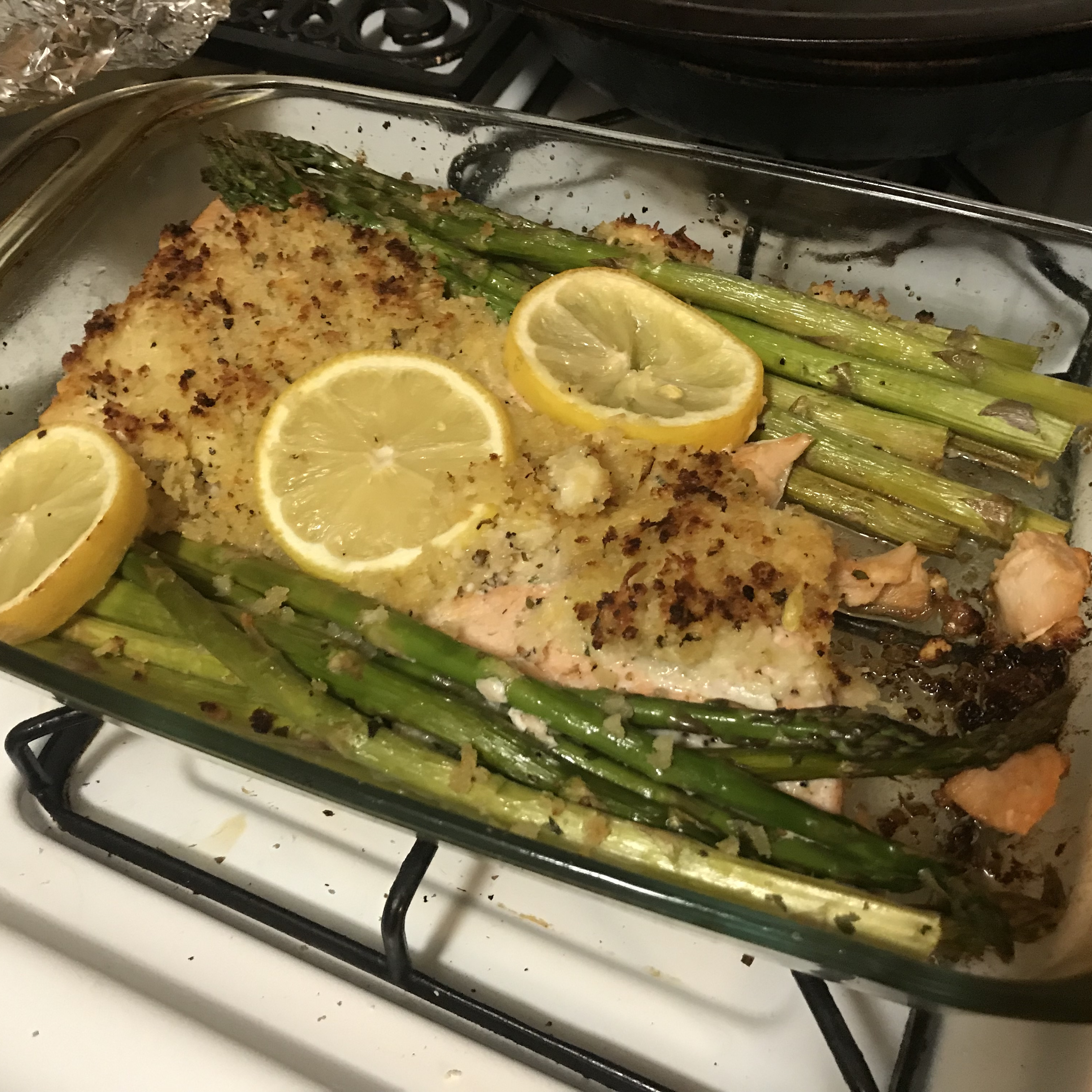 Baked Salmon with Basil and Lemon Thyme Crust baboyd2017