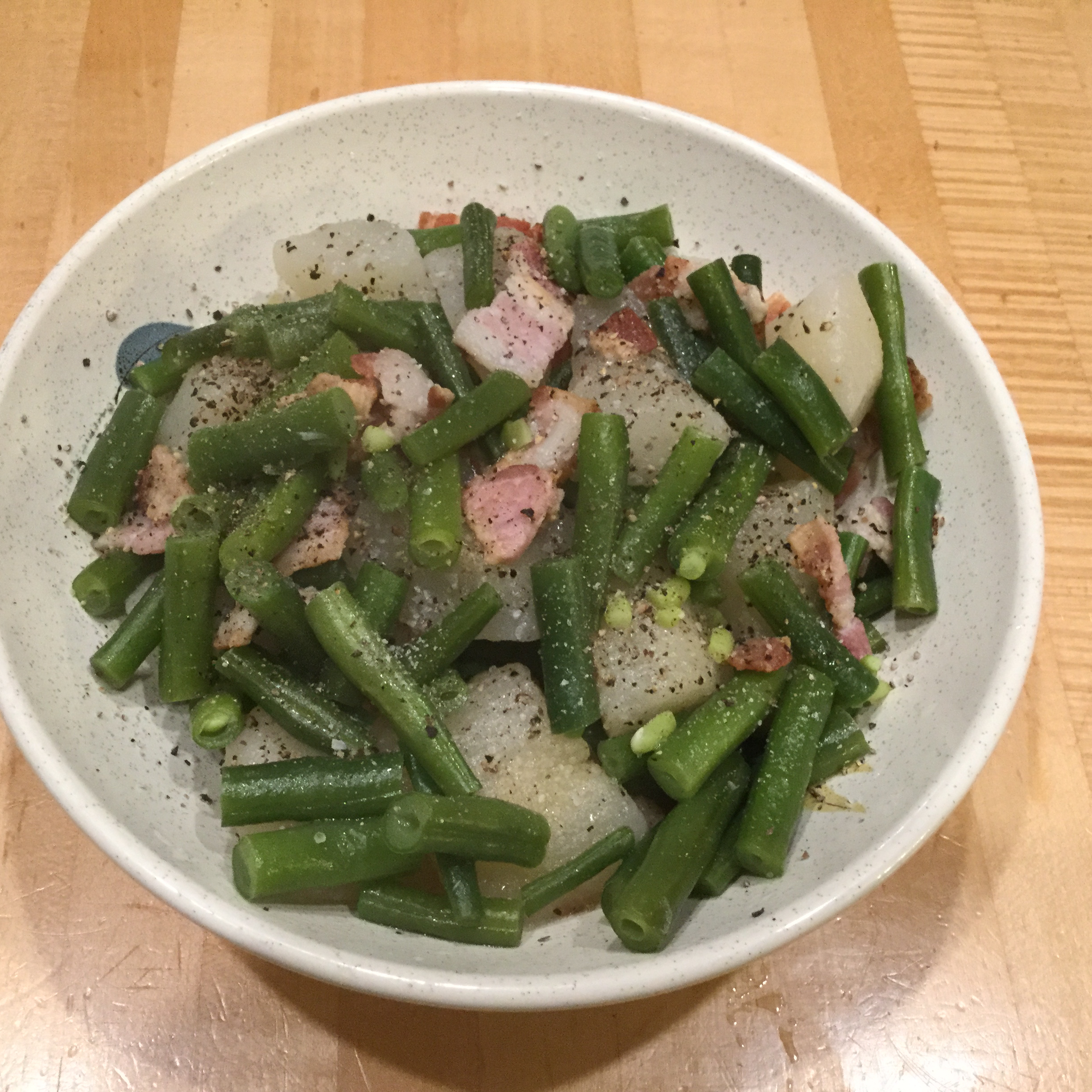 Green Beans and Pears with Bacon Ken Judy