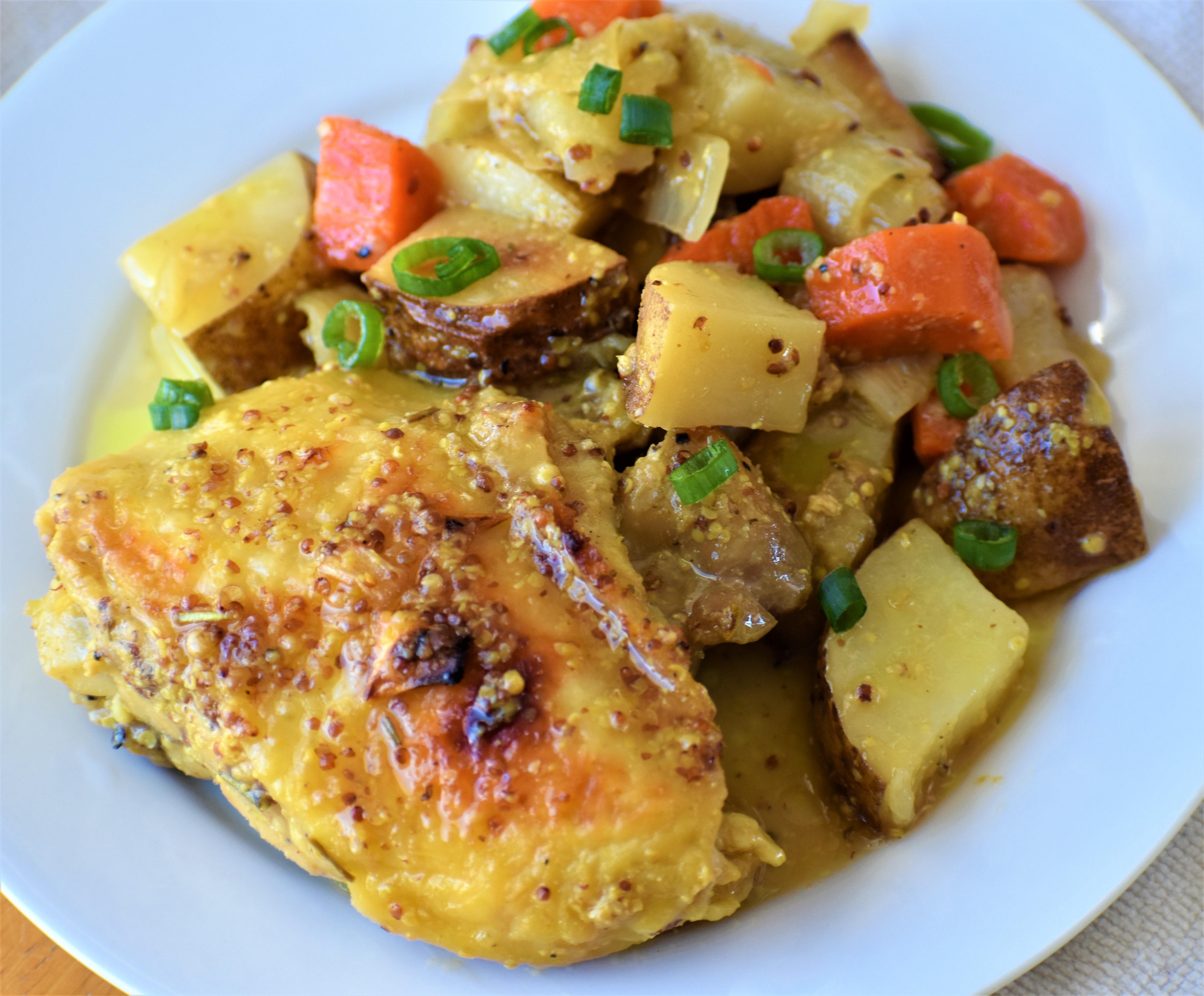 Easy Honey-Mustard Chicken and Potato Bake