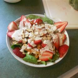 Chicken Strawberry Spinach Salad with Ginger-Lime Dressing christy