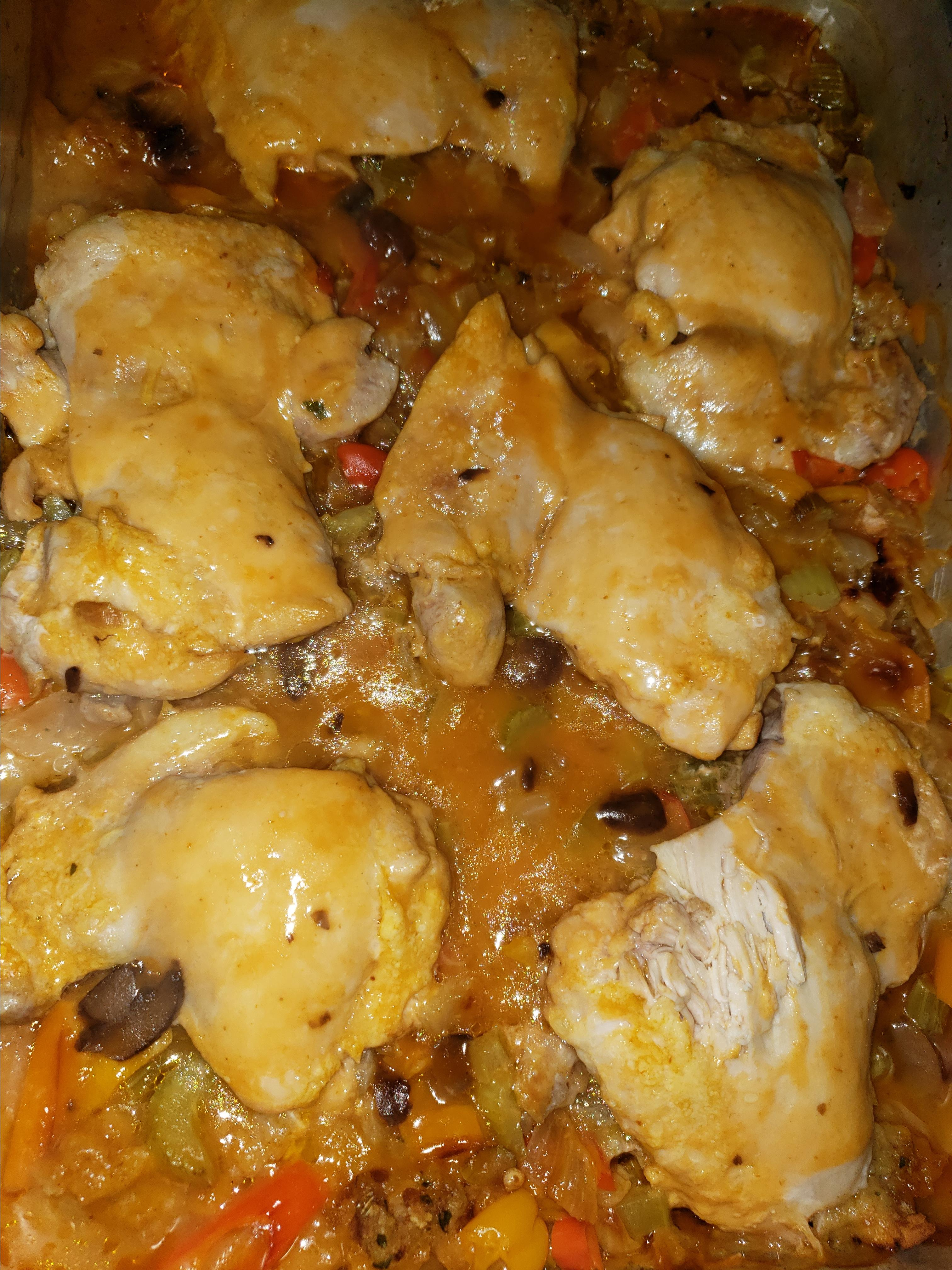 One-Dish Chicken and Stuffing Bake Campbell's Kitchen
