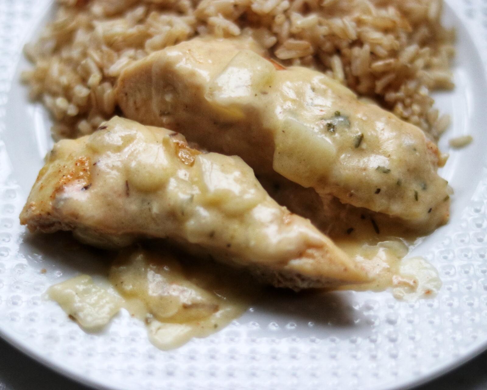 Instant Pot® Lemon-Garlic Chicken