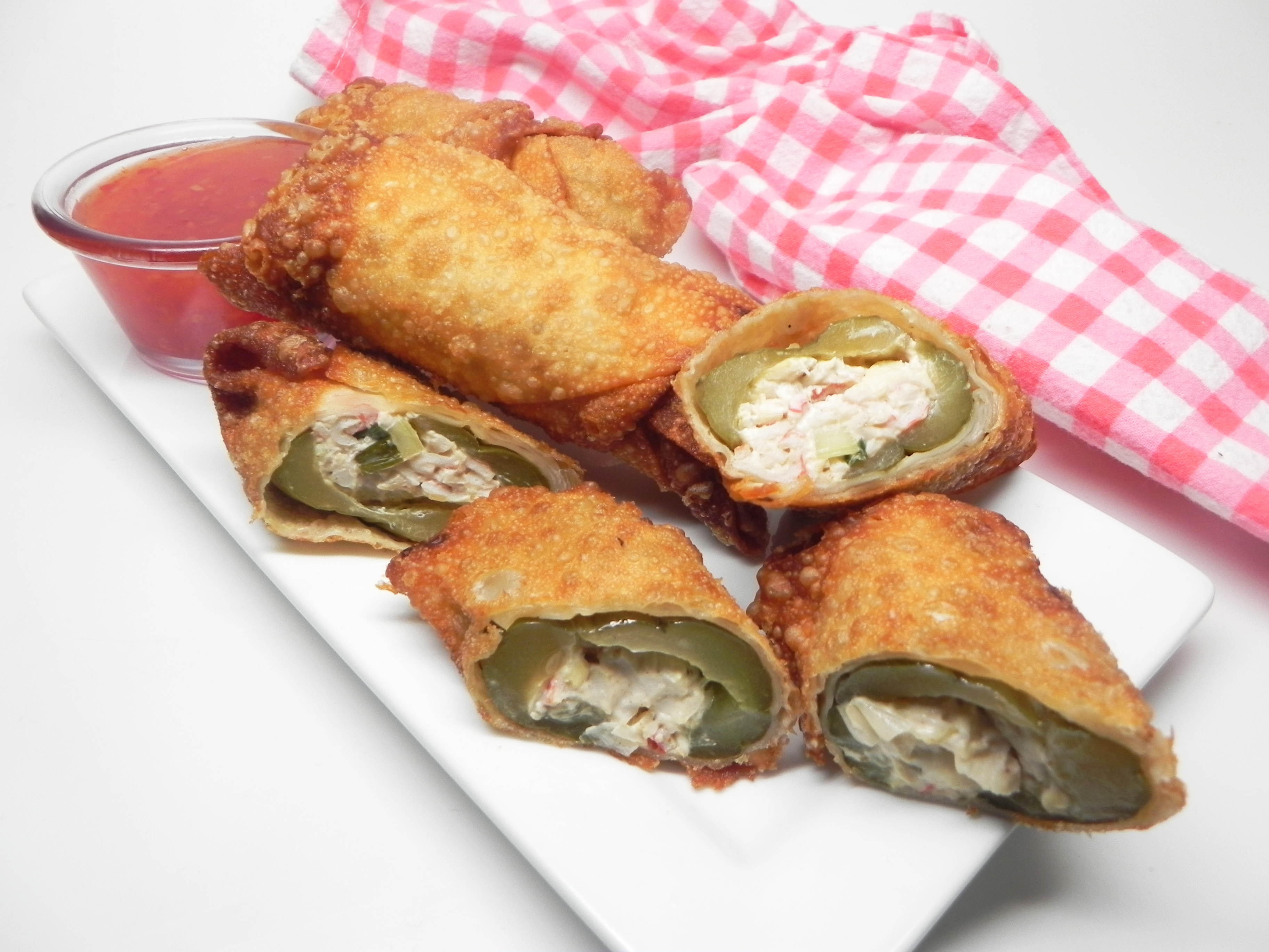 Stuffed Pickle Egg Rolls