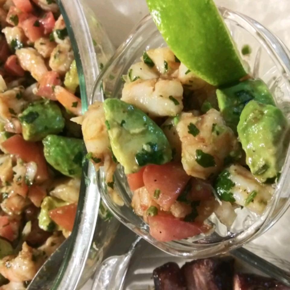 Avocado Shrimp Ceviche-Estillo Sarita