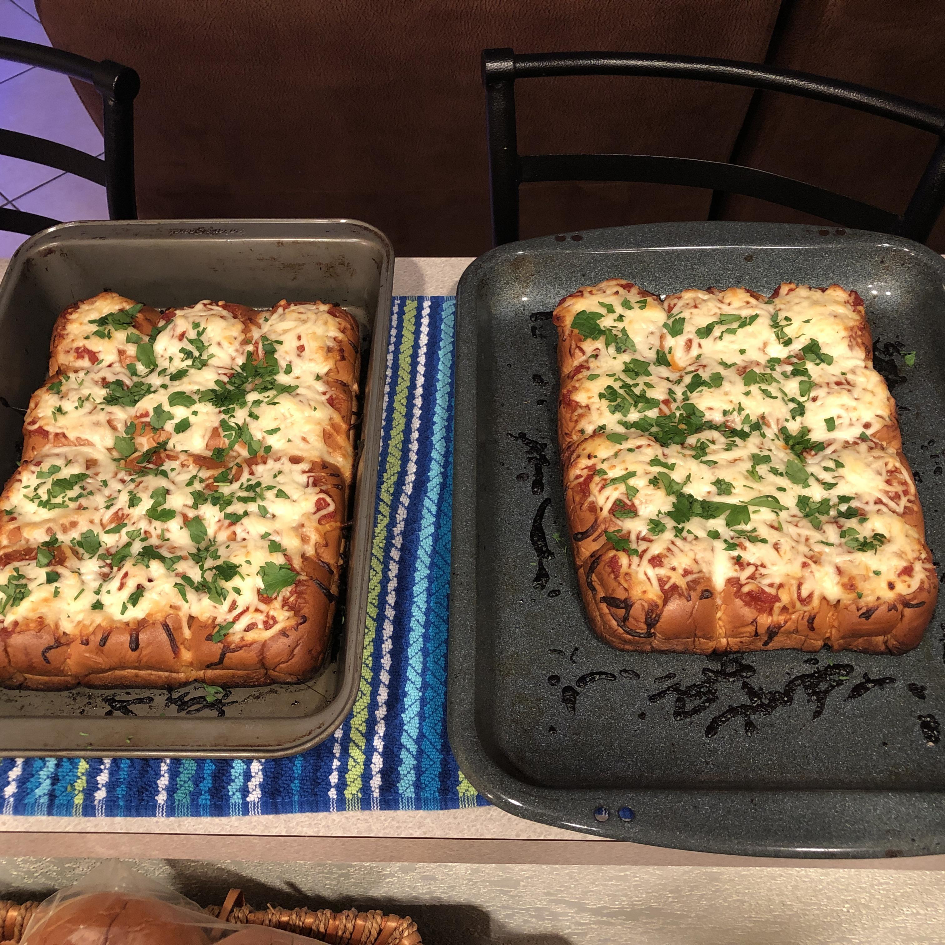 Meatball-Stuffed Garlic Bread Sliders