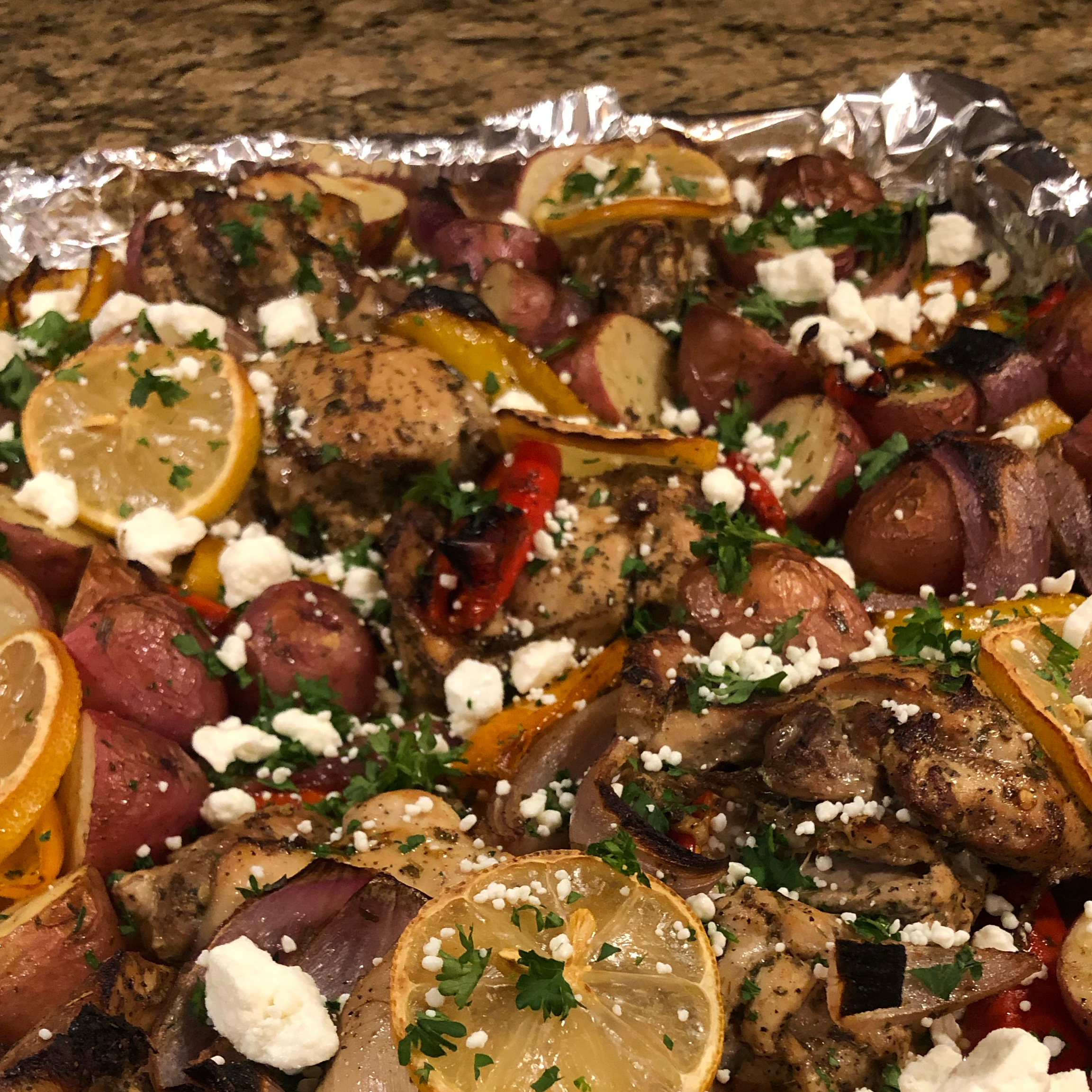 Mediterranean Chicken Sheet Pan Dinner