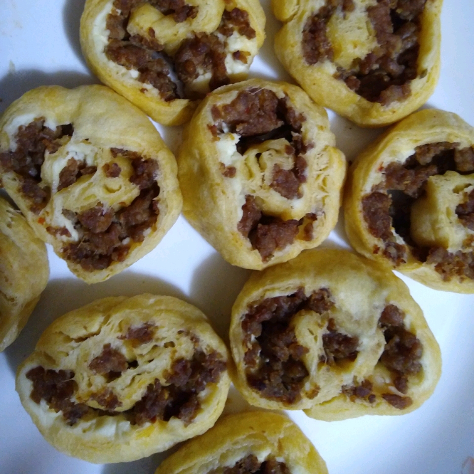 Sausage and Cream Cheese Pinwheels Christine H.