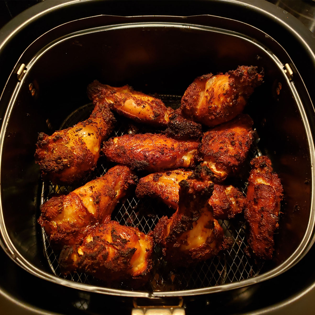 Dry-Rub Air-Fried Chicken Wings