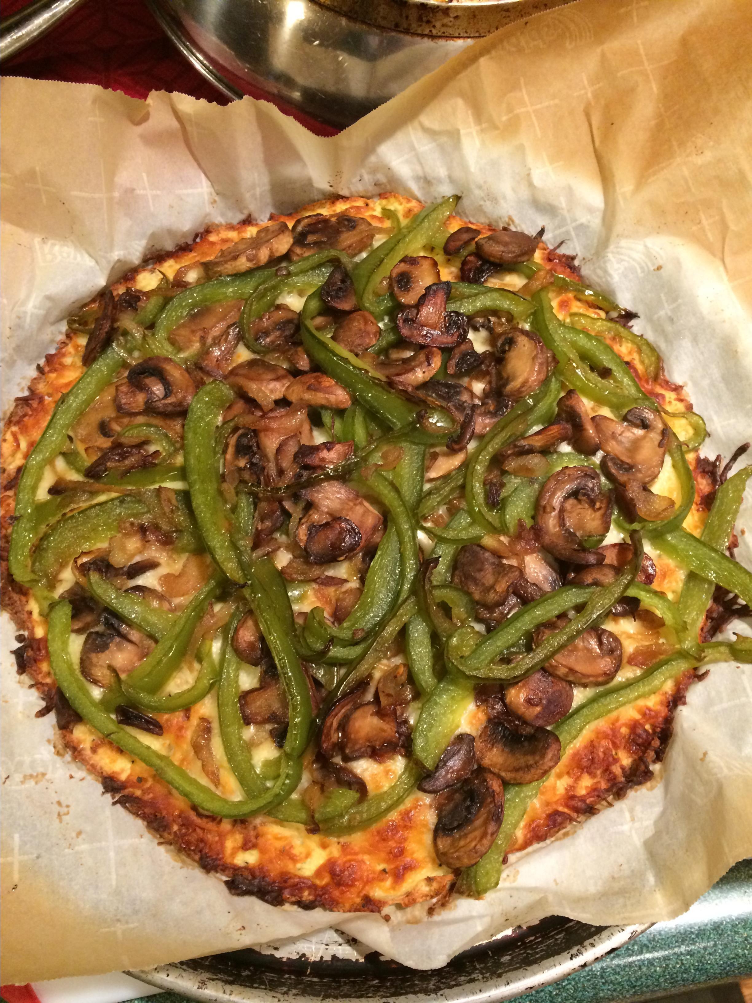 Cheesy Cauliflower Pizza Crust jeannealexander63@comcast.net