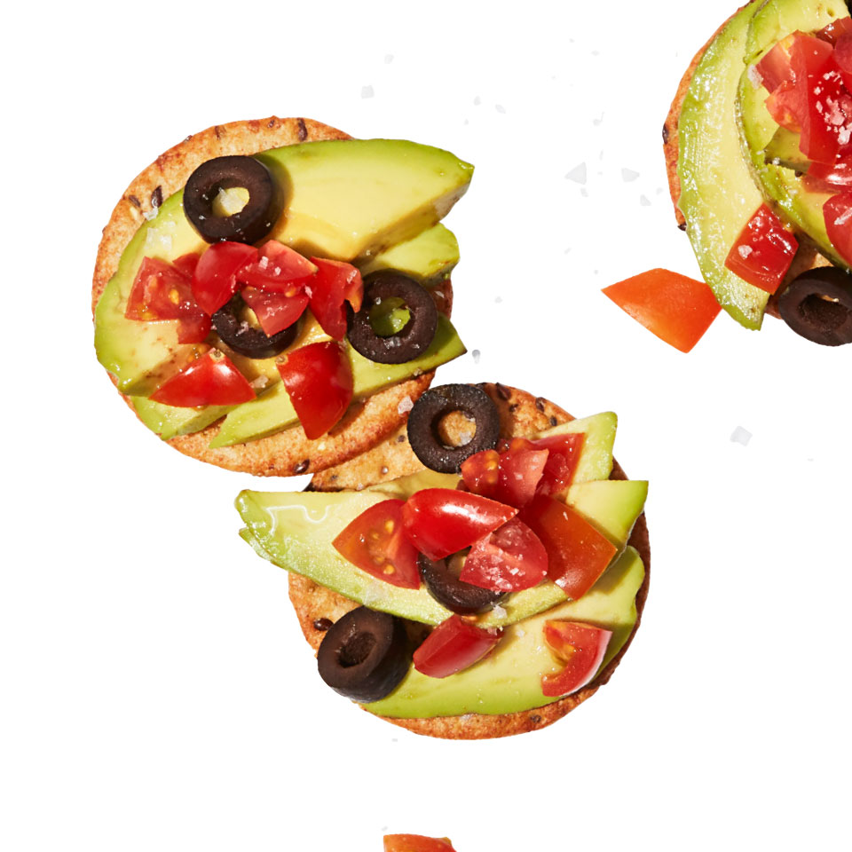 Make an easy snack inspired by your favorite healthy breakfast--avocado toast! We make it snack-time friendly by adding the avocado to crackers instead of toast for a no-cook satisfying treat that takes just 5 minutes to whip together when hunger strikes.