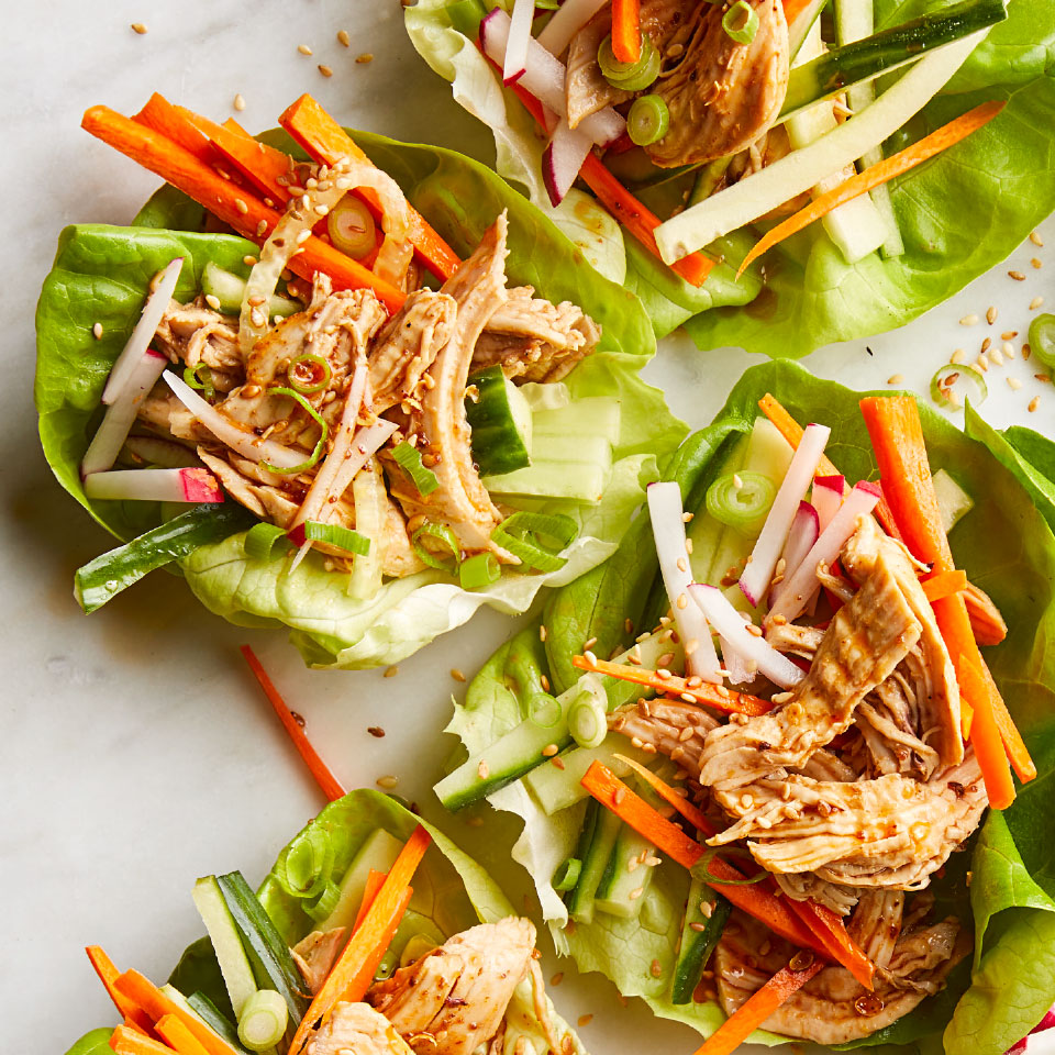 Sichuan Chicken Lettuce Wraps Carolyn Malcoun