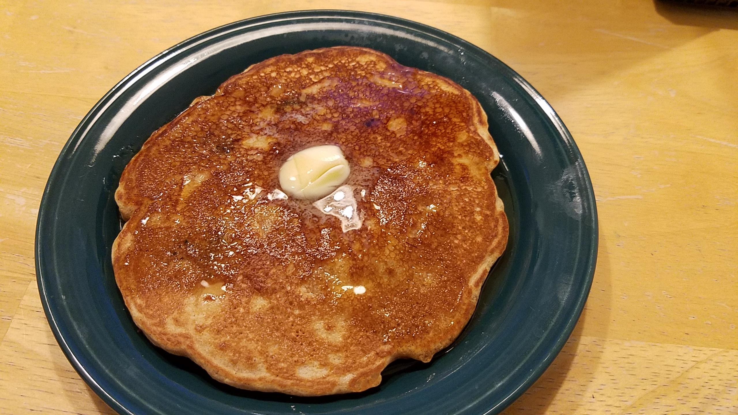 100% Whole Wheat Harvest Pancakes