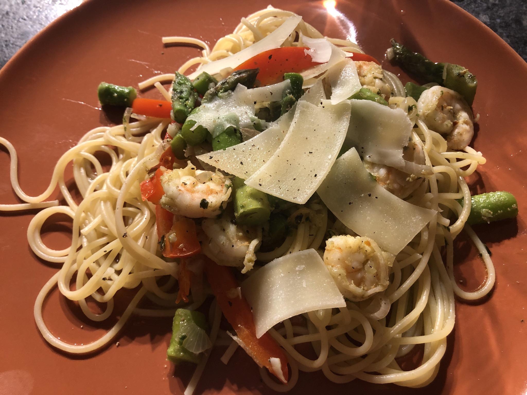 Shrimp and Asparagus with a Louisiana Twist Lannan O'Brien