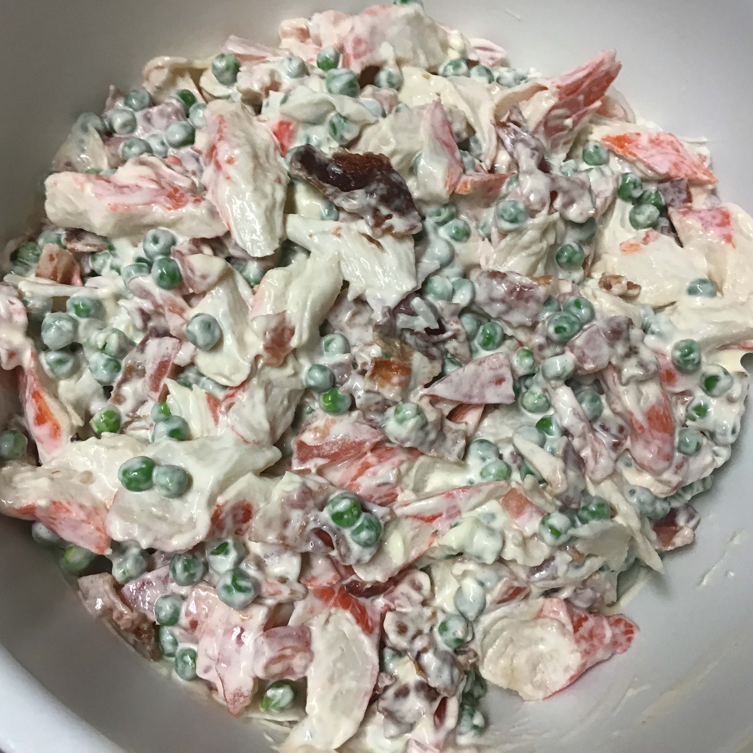Pea and Crab Salad Dwaine Brown