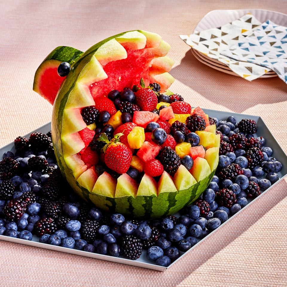 Shark Watermelon Fruit Bowl Sarah Epperson