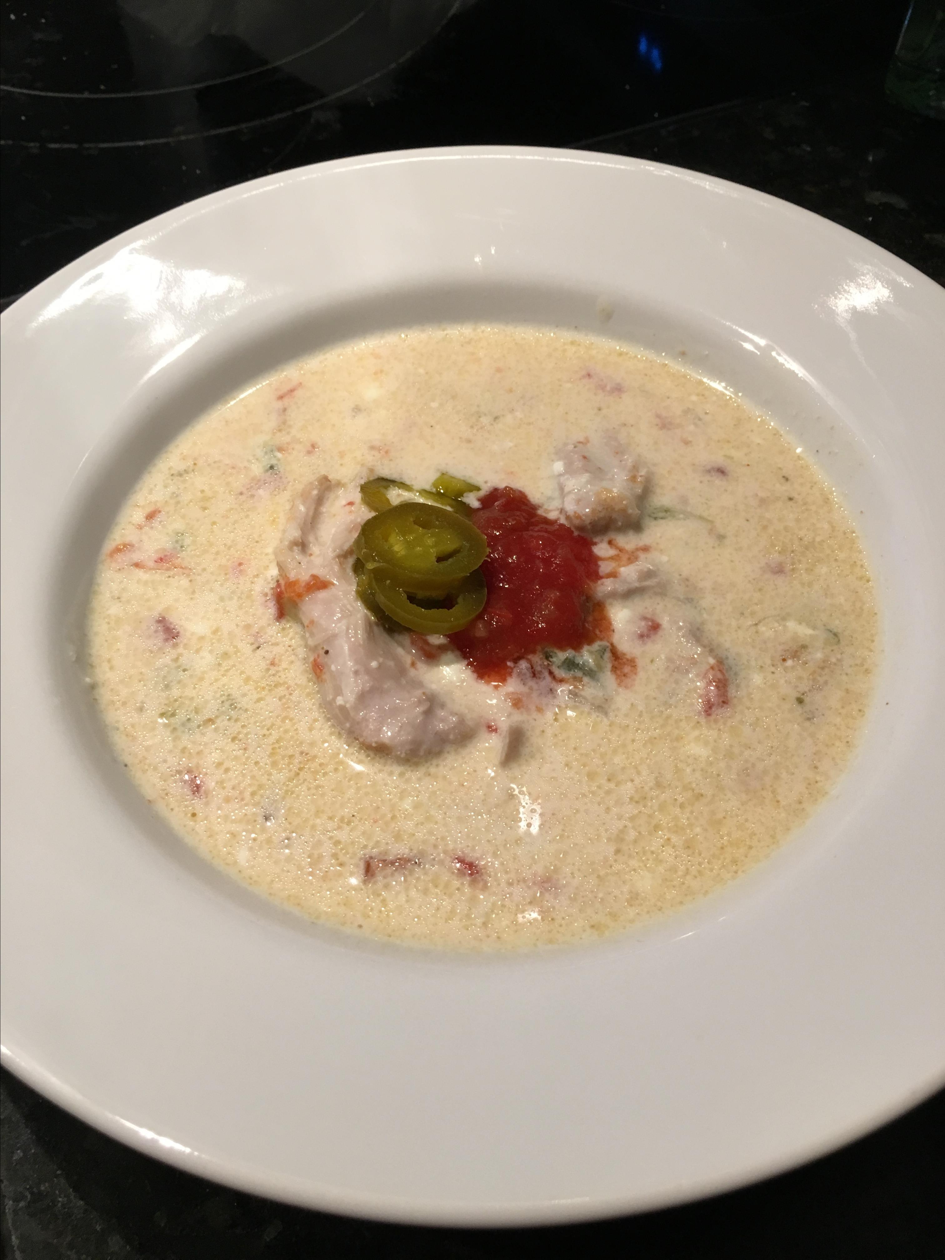 Creamy Keto Chicken-Poblano Soup