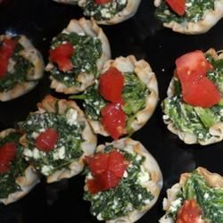 Spinach Phyllo Cups hbellini