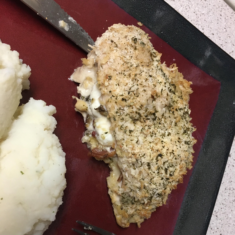 Portabella and Artichoke Stuffed Chicken