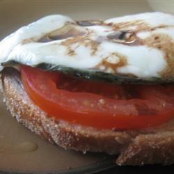 Open Face Mozzarella Sandwich mommyluvs2cook