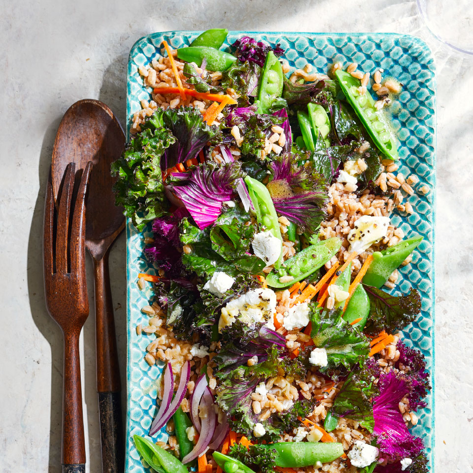 Farro Salad with Kale