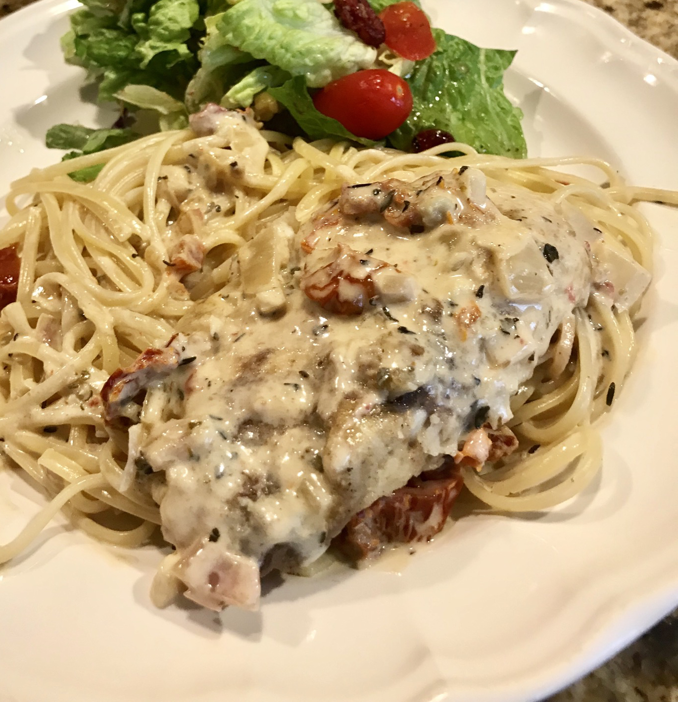 Snapper with Linguine and Citrus Cream Sauce Mary Kurlandski Adomitis
