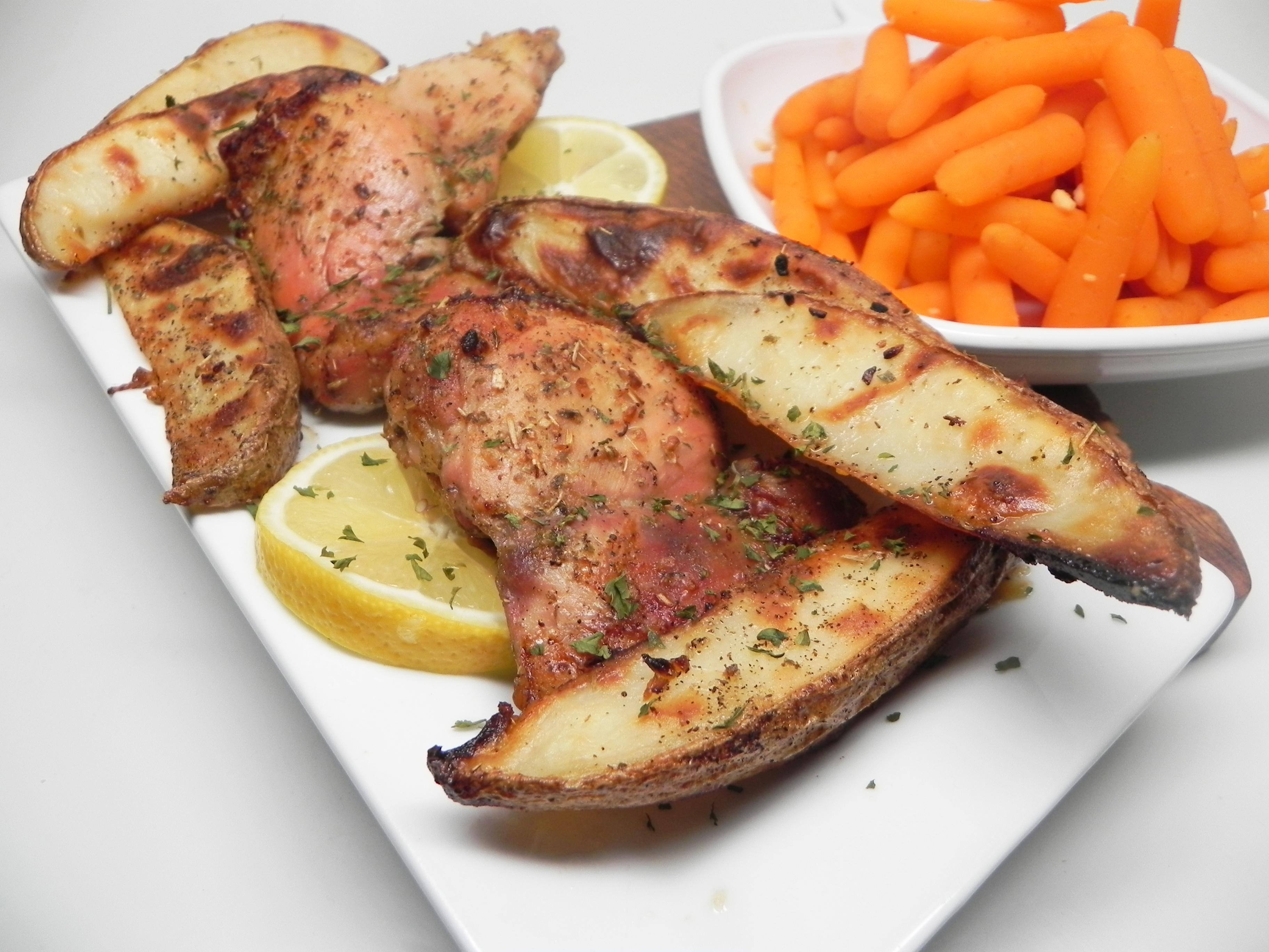 Lemon-Garlic Chicken Thighs and Potatoes Soup Loving Nicole