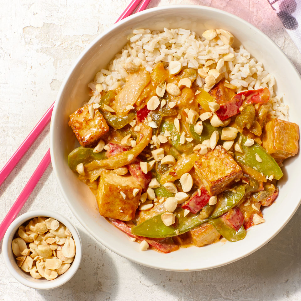 A fast dinner recipe perfect for busy weeknights, this easy stir-fry recipe will quickly become a favorite. To save time, use precooked rice or cook rice a day ahead. Source: Diabetic Living Magazine, Spring 2019