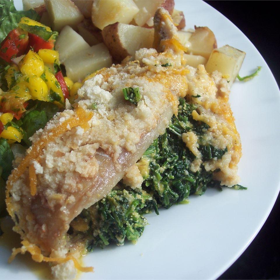 Aunt Carol's Spinach and Fish Bake Sarah-May