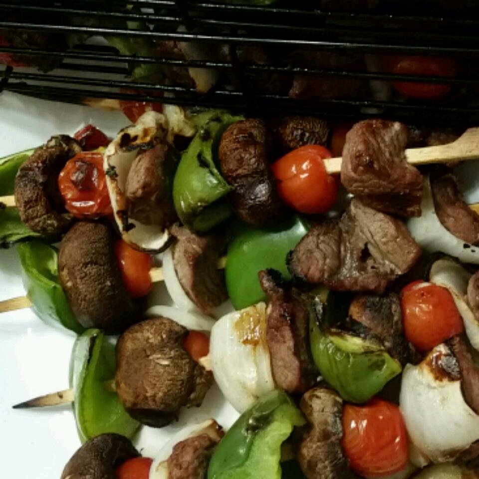 Grilled Teriyaki Sirloin Steak Kabobs Debbie